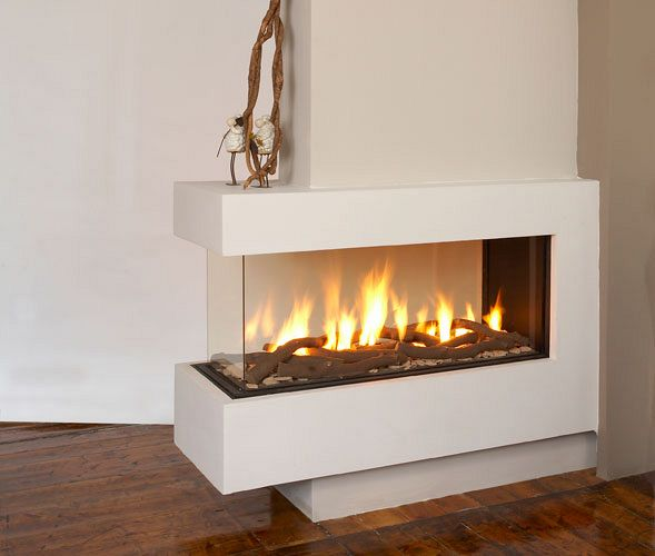The fireplace den for 3 sided fireplaces