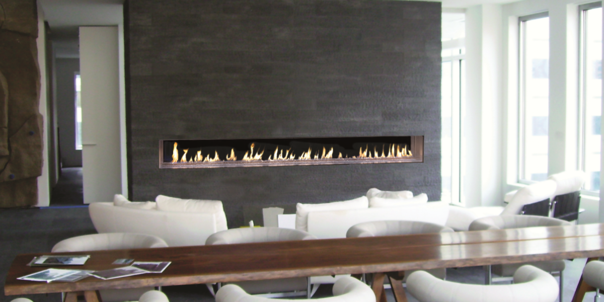Linear Gas FireplacesFlare Modern See Through