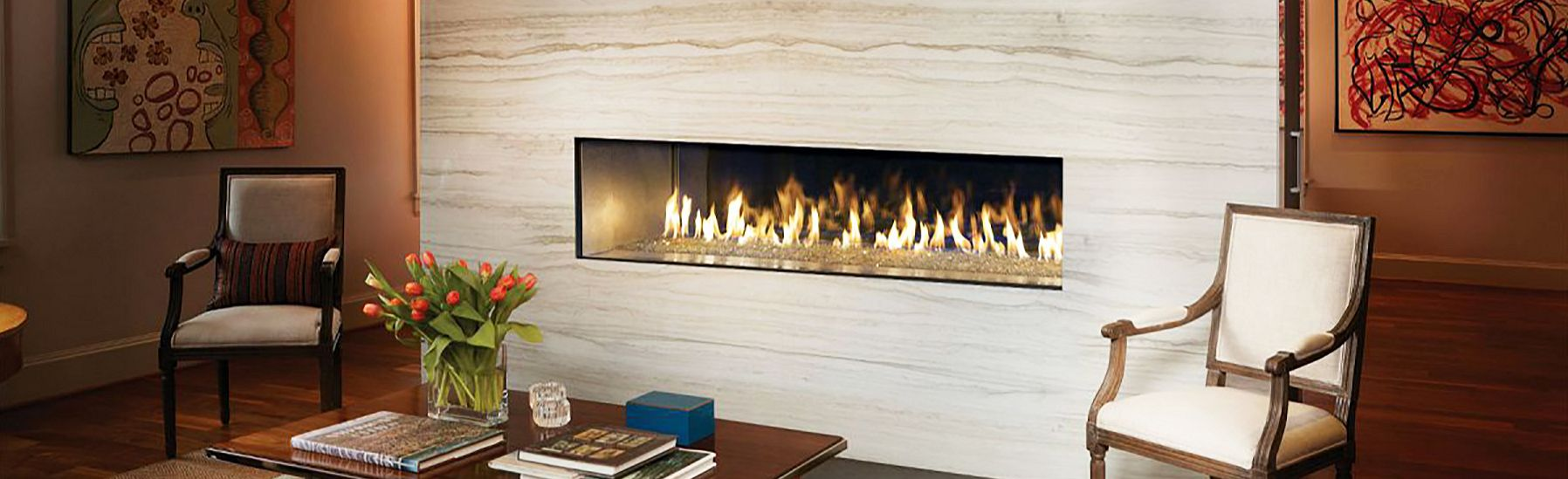 The Roar of a Fire Experience the warmth and magic of a family gathering around a new fireplace